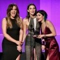 TV personalities Khloe Kardashian, Kendall Jenner and Kylie Jenner speak onstage