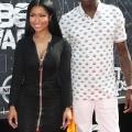 Nicki Minaj (L) and Meek Mill attend the 2015 BET Awards