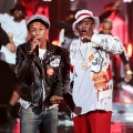 Pharrell William (L) and Diddy perform onstage