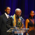 Glynn Turman with his African Oscar