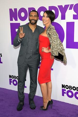 Omari Hardwick (L) and Jennifer Pfautch