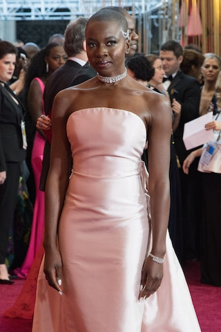 Danai Gurira arrives on the red carpet of The 90th Oscars® at the Dolby® Theatre in Hollywood, CA on Sunday, March 4, 2018.