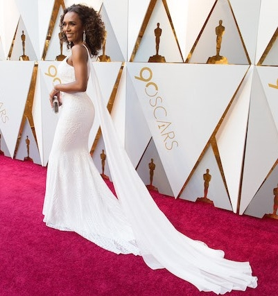 Janet Mock arrives on the red carpet of The 90th Oscars® at the Dolby® Theatre in Hollywood, CA on Sunday, March 4, 2018.