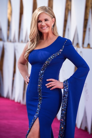 Nancy O'Dell arrives on the red carpet of The 90th Oscars® at the Dolby® Theatre in Hollywood, CA on Sunday, March 4, 2018.
