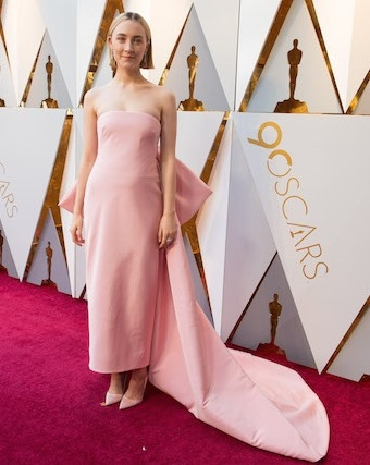 Oscar® nominee Saoirse Ronan arrives on the red carpet of The 90th Oscars® at the Dolby® Theatre in Hollywood, CA on Sunday, March 4, 2018.