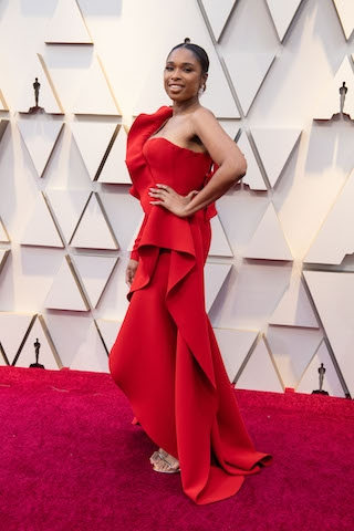 Jennifer Hudson arrives on the red carpet of The 91st Oscars® at the Dolby® Theatre in Hollywood, CA on Sunday, February 24, 2019.