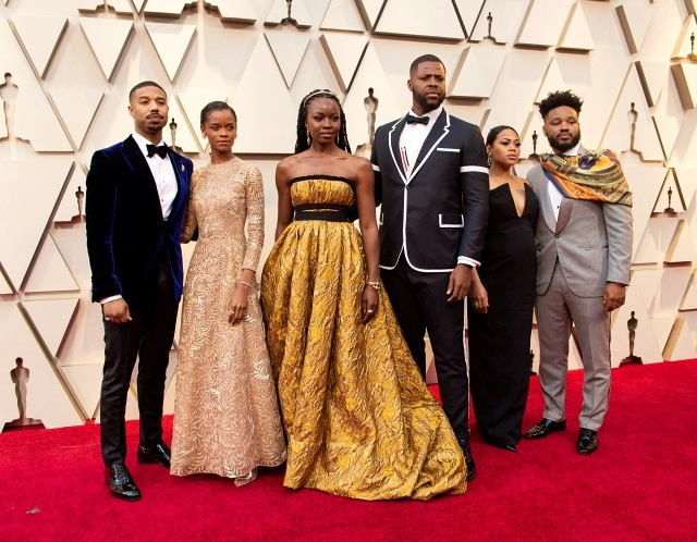 Michael B. Jordan, Letitia Wright, Danai Gurira, Winston Duke, Zinzi Evans, and Ryan Coogler arrive on the red carpet of The 91st Oscars® at the Dolby® Theatre in Hollywood, CA on Sunday, February 24, 2019.