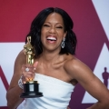 Regina King poses backstage with the Oscar® for performance by an actress in a supporting role during the live ABC Telecast of The 91st Oscars® at the Dolby® Theatre in Hollywood, CA on Sunday, February 24, 2019.