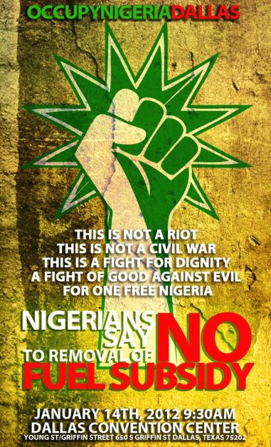 ocd Copy Nigerians in Dallas stage peaceful protest as strike enters Day 6