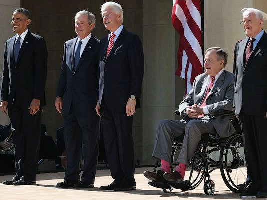 blap 3 George W. Bush Presidential Center Opening in Dallas