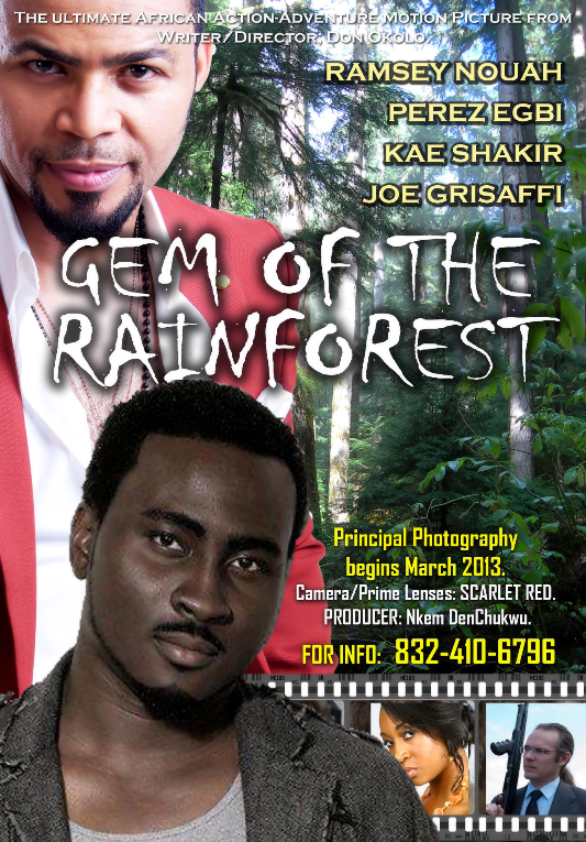 sew Exclusive behind the scenes on the set of Gem of the rainforest