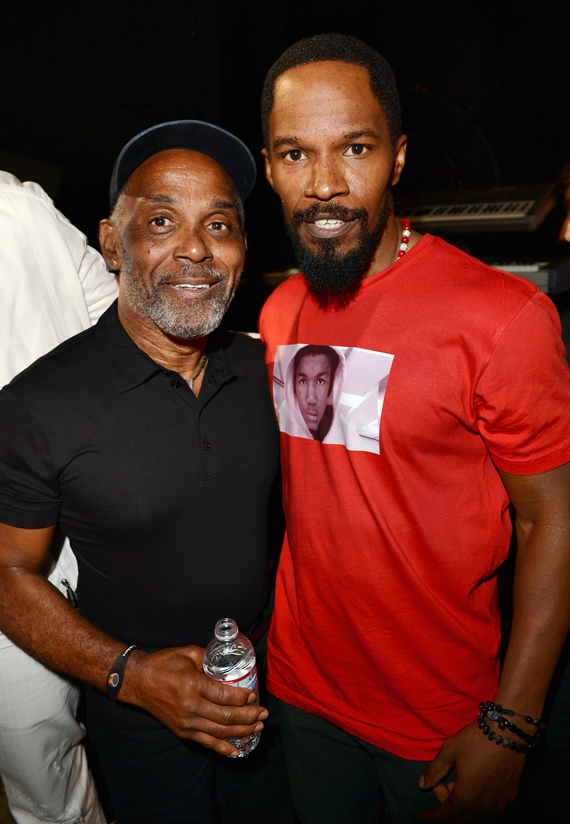 Frankie Beverly of Maze and Jamie Foxx at the 2012 BET Awards Chris Tucker to host The BET Awards