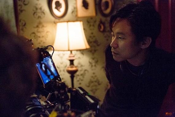 Director James Wan on the set of FilmDistrict's Insidious 2  Photo credit Matt Kennedy