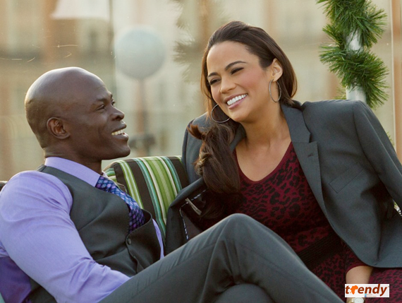 Djimon Hounsou and Paula Patton in Baggage Claim - Copy