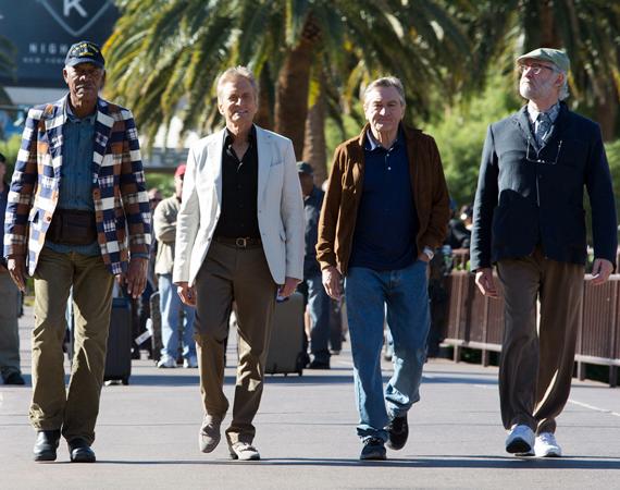 Morgan Freeman, Michael Douglas, Robert De Niro and Kevin Kline in Last Vegas - Copy