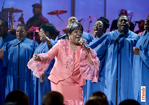 Pastor Shirley Caesar performing at the 2013 Celebration of Gospel