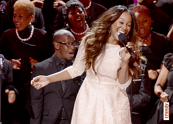 Yolanda Adams on stage at the 2013 Celebration of Gospel - courtesy of BET Networks
