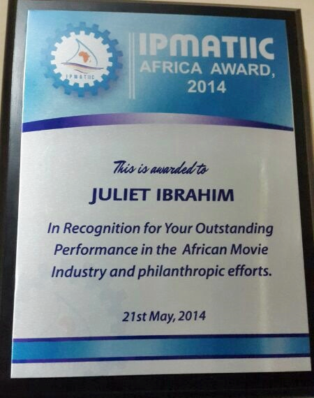 jiu 4 Professional Award for Actress Juliet Ibrahim