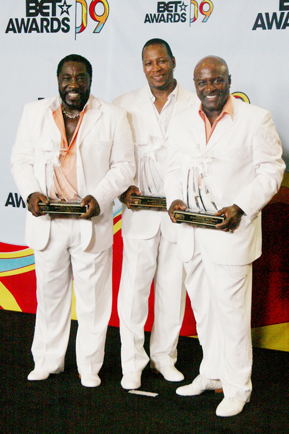 (L-R) Eddie Levert, Eric Grant, and Walter Williams of the