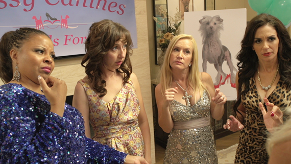 Tymberlee Hill, Kristen Schaal, Angela Kinsey - courtesy of Hulu