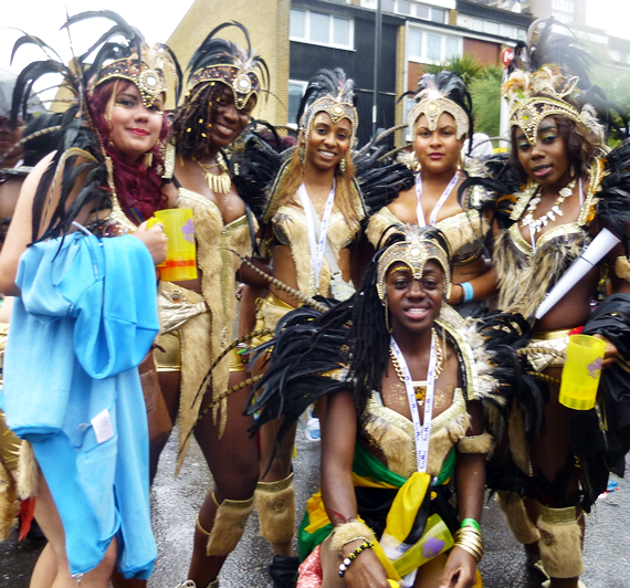 More carnival dancers Dont rain on our parade! Millions refuse to let the rain dampen their Carnival spirit