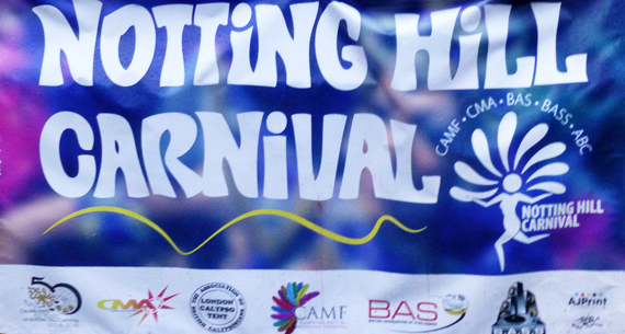 Notting Hill Carnival Sign Dont rain on our parade! Millions refuse to let the rain dampen their Carnival spirit