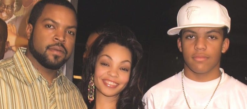 Cube with wife Kimberly Woodruff and son Darrel Jackson - Copy