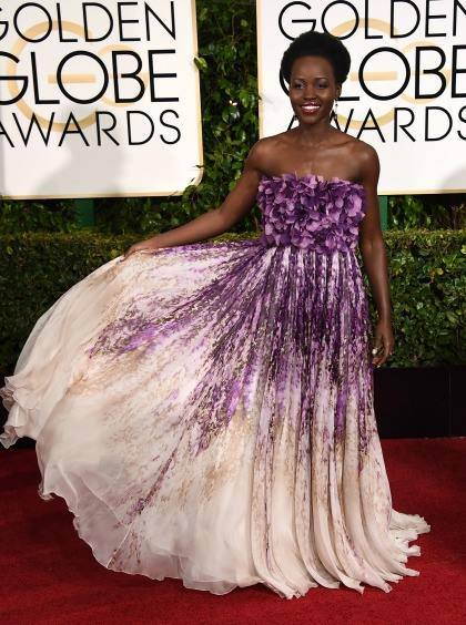 Lupita at the Golden Globes