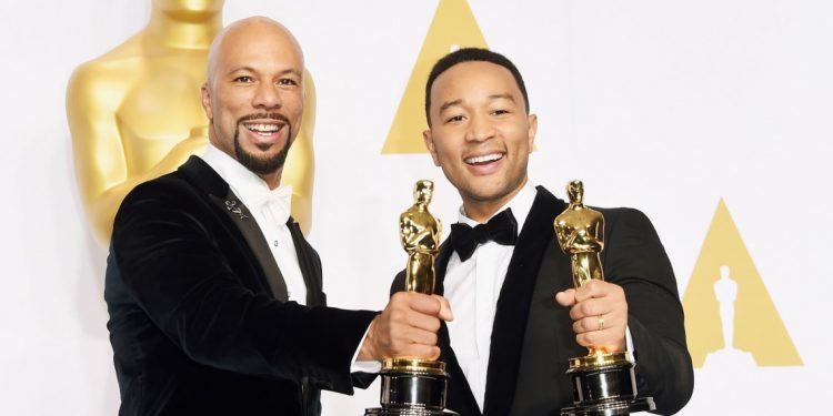 Common and John Legend- Bringing Oscar 'Glory' to 'Selma.' (Photo by Jason Merritt  Getty Images Entertainment). - Copy