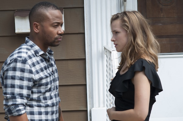 (L- R) Columbus Short and Alicja Bachleda in a scence from The Girl Is in Trouble