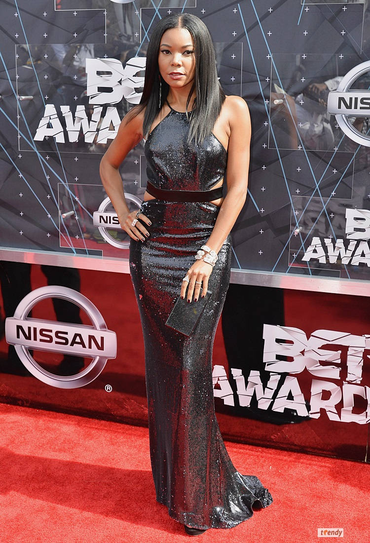 LOS ANGELES, CA - JUNE 28:  Actress Gabrielle Union attends the 2015 BET Awards at the Microsoft Theater on June 28, 2015 in Los Angeles, California.  (Photo by Earl Gibson/BET/Getty Images for BET)