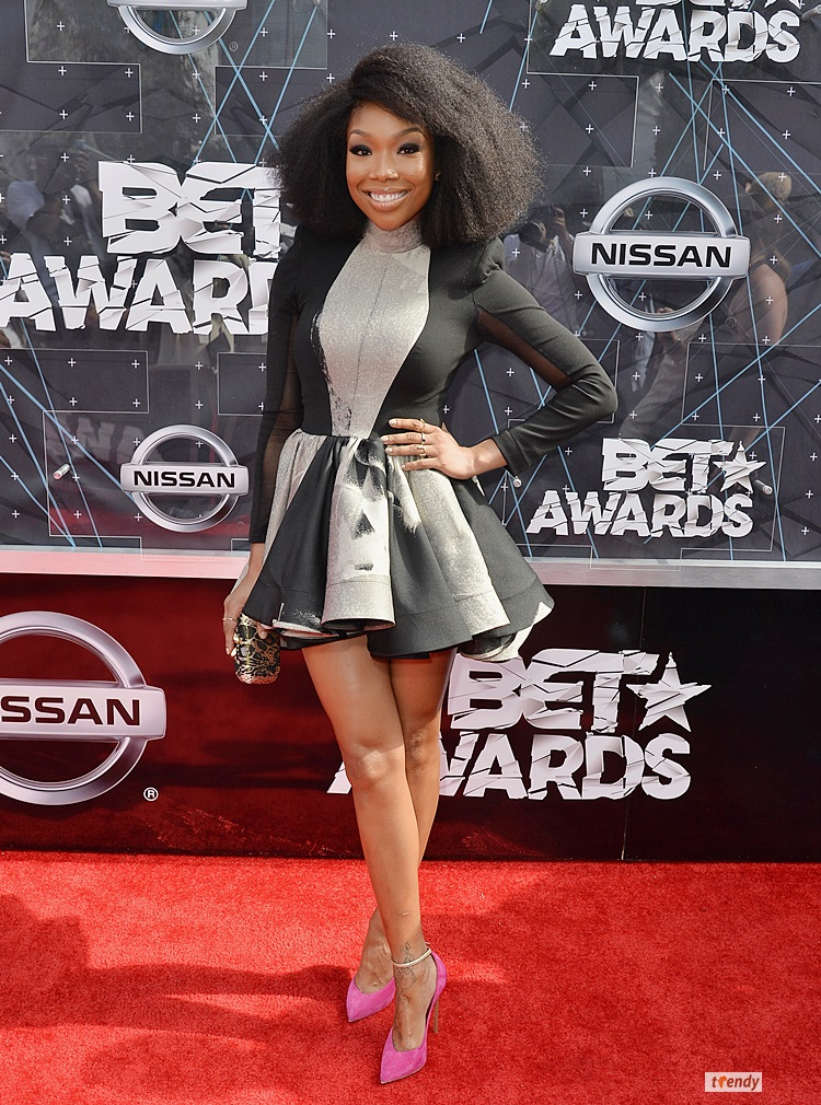 LOS ANGELES, CA - JUNE 28:  Singer Brandy Norwood attends the 2015 BET Awards at the Microsoft Theater on June 28, 2015 in Los Angeles, California.  (Photo by Earl Gibson/BET/Getty Images for BET)