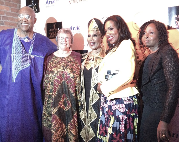 (L-r) Ayuko Babu, Miki Goral,  Ja'net Dubois,  Sherly Lee Ralph and CEO of African Movie Academy Awards AMAA, Peace Anyiam-Osigwe  - Copy