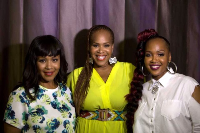 Erica Campbell, Tina Campbell, and GooGoo Atkins backstage at the Fifth Annual Long Beach Gospel Festival Photo credit: Blair Caldwell