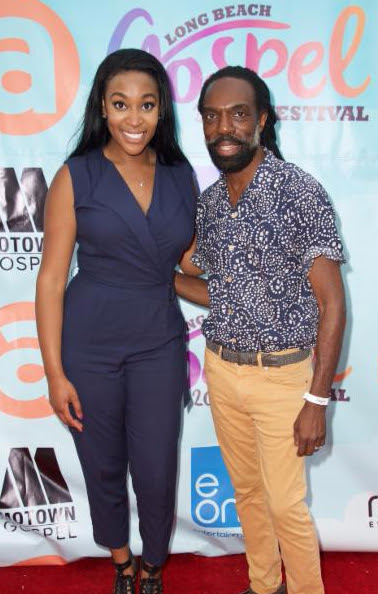Gospel singer and songwriter, Jessica Reedy and Fashion Designer, Kevan Hall on the red carpet at the  Fifth Annual Long Beach Gospel Festival  Photo credit: Earl Gibson III