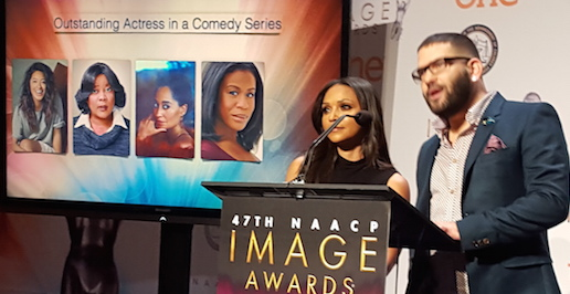 Danielle Nicolet and Guillermo Diìaz annouce Image Award nominees