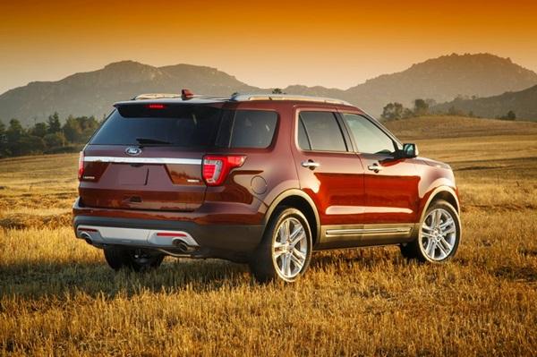 Explorer rear sunset
