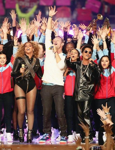 Beyonce, Coldplay and Bruno Mars