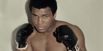 Muhammad Ali is seen training October 9, 1974 for his world championship fight in Zaire. (AP Photo)