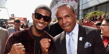 Usher and Sugar Ray Leonard at the ESPY