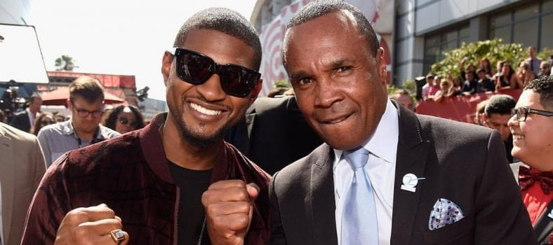 Usher and Sugar Ray Leonard at the ESPY