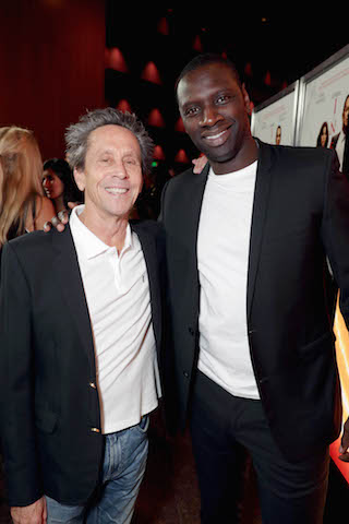 """Producer Brian Grazer and Omar Sy seen at Columbia Pictures Presents in Association with Imagine Entertainment the Los Angeles Special Red Carpet Screening of """"Inferno"""" at The DGA on Tuesday, Oct. 25, 2016, in Los Angeles."""
