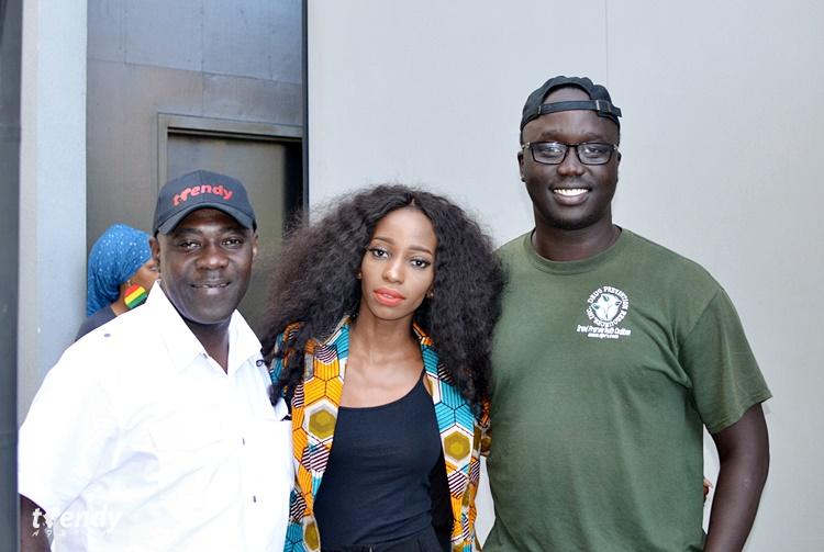 L-R; Tosan Aduayi, Sainabou Manneh, Michael Majok