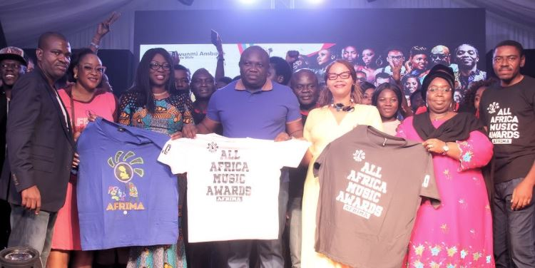 Lagos State Governor Akinwunmi Ambode with the AFRIMA team