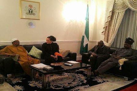 With Senator Daisy Danjuma and Governor Amosun in London