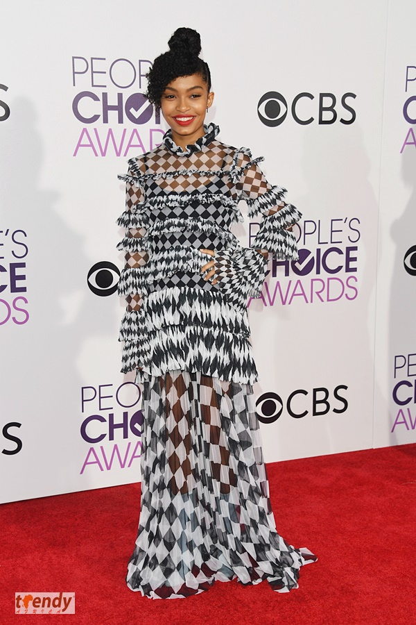 Actress Yara Shahidi attends the People's Choice Awards 2017 at Microsoft Theater on January 18, 2017 in Los Angeles, California. (Photo by Alberto E. Rodriguez/Getty Images)