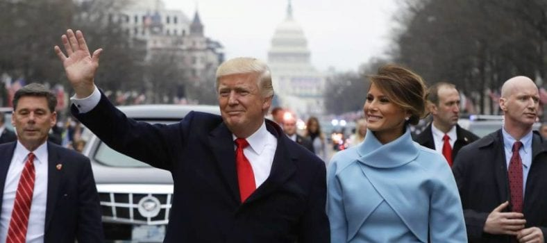 President Donald Trump with First Lady, Melania Trump.