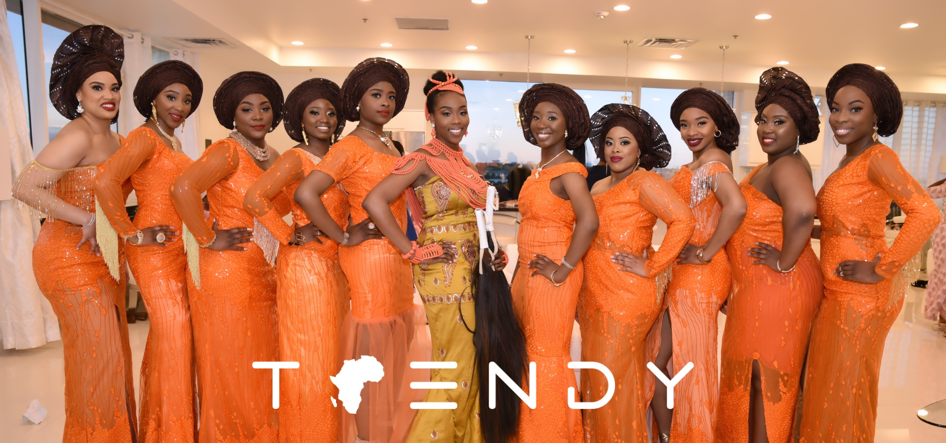 Ms Kayode and her bridesmaids