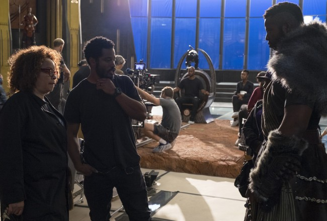 Ruth Carter pictured left with Black Panther director Ryan Coogler