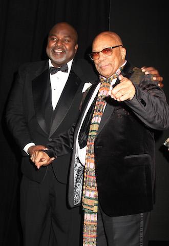 AAFCA co-founder Gil Roberston and Quincy Jones